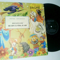 Disc vinil / vinyl BASME - P. Ispirescu Greuceanu - Doi copii cu parul de aur - Muzica pentru copii electrecord