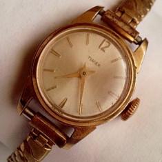 Timex British V-Conic Escapement Shockproof placat cu aur - Ceas dama Timex, Elegant, Mecanic-Manual, Analog