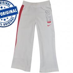 Pantalon copii Nike Active - pantaloni originali, Marime: S, M, Culoare: Alb