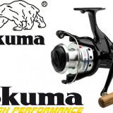 Mulineta Okuma Longbow Baitfeeder 680 Manivela Lemn Excelenta 6 Rulmenti 0.LG680