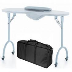 Masa pentru manichiura pliabila cu aspirator - Masa manichiura