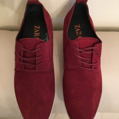 Pantofi sport ( teniși) ZARA din piele naturală perforata - Pantofi barbati, Piele naturala