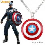 Pandantiv / Colier / Medalion Captain America Capitanul America + lant