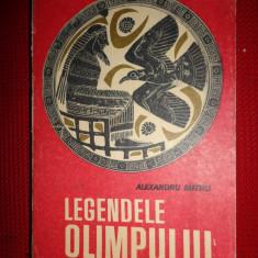 Carte mitologie - Legendele Olimpului (zeii+eroii/ ilustratiian 1965/515pag)- Al.Mitru