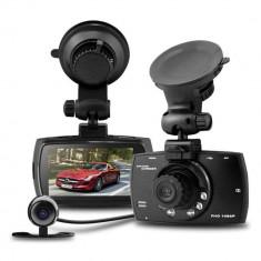 Camera video auto dubla DVR Allwinner A10 GS610 FullHD 1080p, Wide, Double, AV out, Foto: 1