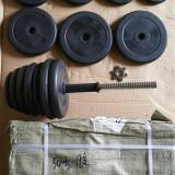 Gantere/Haltere - Gantere din cauciuc 2x25/50 kg reglabile