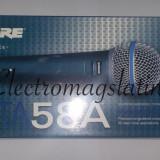 "Microfon Shure Incorporated Profesional Shure Beta 58 cu fir, modelul cu intrerupator ""ON-OFF"""