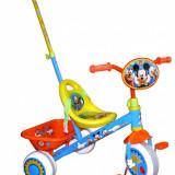 Tricicleta copii, 12-24 luni, Baiat, Bleu - Tricicleta Mickey