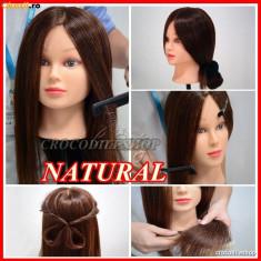 Cap practica Frizerie coafor Manechin PAR NATURAL 80% BeautyUkCosmetics