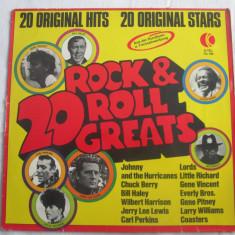 Various – 20 Rock & Roll Greats _ vinyl(LP, compilatie)_ Elvetia - Muzica Rock & Roll Altele, VINIL