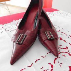 PANTOFI PIELE NATURALA BALLIN ITALIA, VINTAGE, NR 40 - Pantofi dama