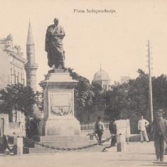 CONSTANTA, PIATA INDEPENDENTEI - Carte Postala Dobrogea 1904-1918, Necirculata, Printata
