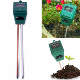 Tester de Sol 3in1 PH Umiditate Intensitate Luminoasa, Tester plante