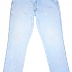 (BATAL) Blugi WRANGLER - (MARIME: 38 x 32) - Talie = 98 CM, Lungime = 112 CM - Blugi barbati Wrangler, Culoare: Bleu, Prespalat, Drepti, Normal