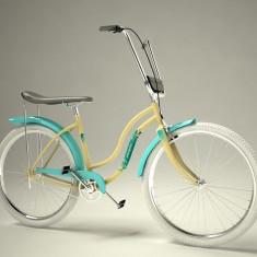 Bicicleta retro - Pegas Strada 2 - 3 viteze, Crem Inghetata