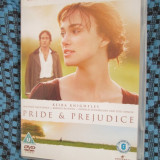 PRIDE AND PREJUDICE (SUB. ROM.) - 1 DVD ORIGINAL FILM cu KEIRA KNIGHTLEY - NOU! - Film Colectie, Romana
