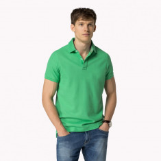 Tricou barbatesc Tommy Hilfiger Polo Slim Fit Verde - Marime L - Tricou barbati Tommy Hilfiger, Marime: L, Culoare: Din imagine
