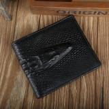 Portofel Barbati, Coffee, Cu inchizatoare - Portofel piele ecologica aspect crocodil negru incapator