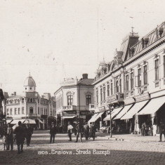 1905 . CRAIOVA, STRADA BUZESTI, CIRCULATA ''930 - Carte Postala Oltenia pana la 1904, Fotografie