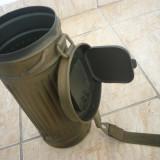 CUTIE MASCA DE GAZE GERMANA M38 CAMUFLAJ TAN, WEHRMACHT, WAFFEN SS, WW2, AIRSOFT