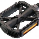 Piese Biciclete - Pedale plastic MTB/Trekking Wellgo P26, negre, reflectorizante, 359gr.