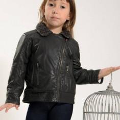 Geaca copii imitatie piele Losan 326 2013 (Culoare: gri, Imbracaminte pentru varsta: 6 ani - 116 cm)