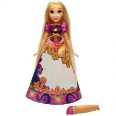 Papusa Disney Princess Rapunzel cu Rochie Magica