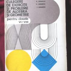 CULEGERE DE EXERCITII SI PROBLEME DE ALGEBRA SI GEOMETRIE pentru clasele VI-VIII - Culegere Matematica