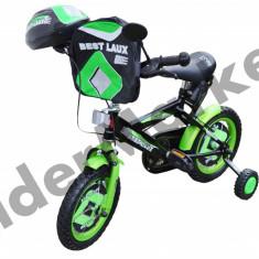 Bicicleta copii, 8 inch, 12 inch, Numar viteze: 1 - Bicicleta pentru copii complet accesorizata