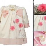 Set botez iarna Pink Poppies 0-1 luni Atelier Bebe