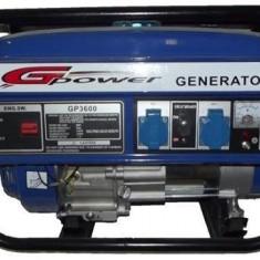 Gpower Generator GP3600E, 2.8 kW, benzina, electric start +baterie - Generator curent