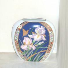 Vaza portelan japonez KUTANI, decorata cu aur 24K - Orhidee (3 + 1 GRATIS!), Vaze