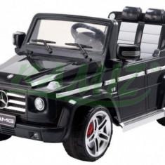 Masinuta electrica copii - Mercedes G55 AMG cu acumulator si telecomanda Negru Ramiz