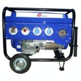 Generator curent - Gpower Generator GP6600EWH, 5.6 kW, 13 CP, benzina, start electric+baterie, cu roti