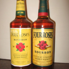 2 sticle whisky four roses cl 70 gr 40 ani 70-80