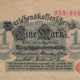 GERMANIA 1 mark 1914 VF+++!!! - bancnota europa