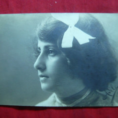 Carte postala tematica, Circulata, Fotografie - Ilustrata- Fotografie- Fetita, circ. spic de grau Bacau-Ptra Neamt 1906