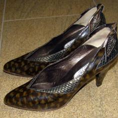 Pantofi dama marca Moda Denis interior si talpa piele marimea 37 (P254_1) - Pantof dama