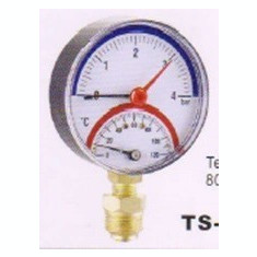 Centrala termica - TERMOMANOMETRU RADIAL f80 4 BAR 120oC 1/4 inch