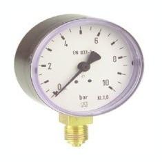 Centrala termica - Manometru cu tub Bourdon RF100 plastic D101 0-6 bar