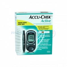 Glucometru - Pachet aparat testare glicemie Accu-Check cu 10 teste
