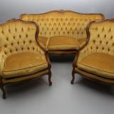 Salon , stil rococo, 3 piese canapea,2 fotolii,