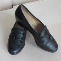 Pantofi dama GABOR, piele naturala int/ext, marimea 37 UK 4, int 23cm, impecabili