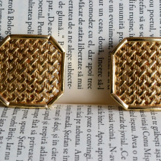 Cercei clips Christian Dior placati cu aur - Cercei placati cu aur
