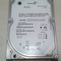 Hard-Disk / HDD laptop Seagate IDE 80GB 5400rpm, 41-80 GB, 8 MB