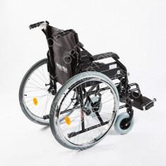 Carucior handicap pliabil cu detasare rapida a rotilor Ortomobil 040202 - 38 cm - Scaun cu rotile