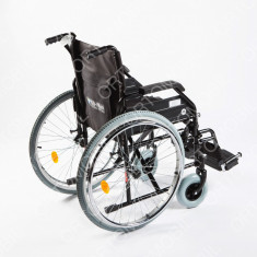 Carucior handicap pliabil cu detasare rapida a rotilor Ortomobil 040202 - 41 cm - Scaun cu rotile