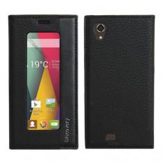 Husa Telefon - Husa de protectie din piele ecologica Discovery, fereastra verticala, interior silicon, pentru Allview V1 Viper E
