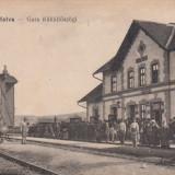 BLAJ, GARA, TREN, EDITURA LIBRARIEI SEMINARIALE - Carte Postala Transilvania 1904-1918, Blaj, Necirculata, Fotografie