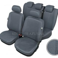Husa Auto - Huse scaune auto imitatie piele Vw Golf 4 Set huse fata + spate Culoare Gri